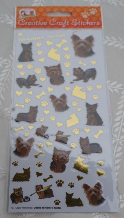 YORKSHIRE TERRIER YORKIE SCRAPBOOKING CARD CRAFT ETC